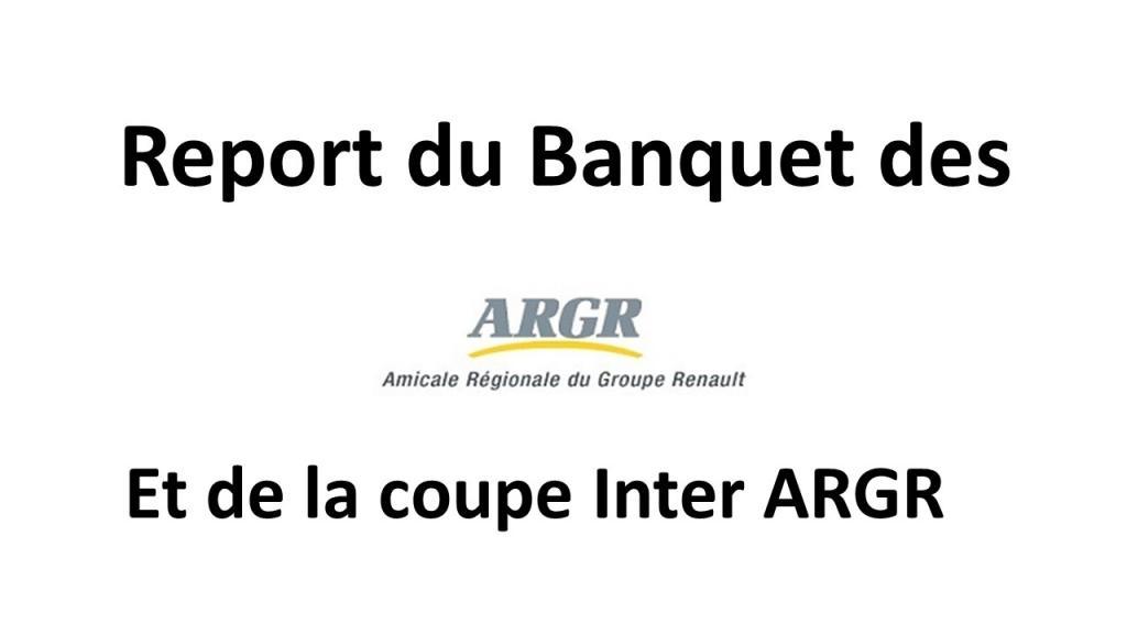 Banquet des ARGR reporté en 2021